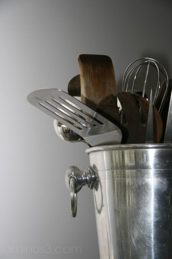 Bucket, Kitchen, Utensils, Spatula, Whisk