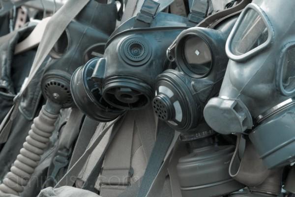 Gasmasks in Portobello Market