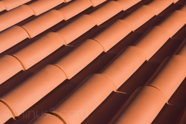Roof, tiles, orange, terracotta
