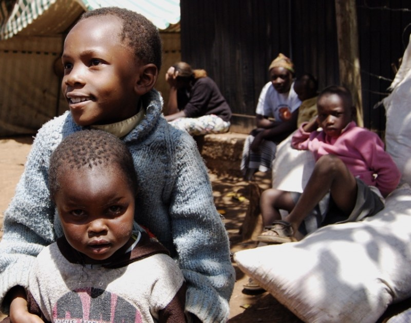 Children in an IDP camp in Limuru, Kenya