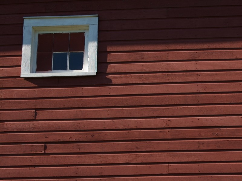 Window in a red barn, upstate NY