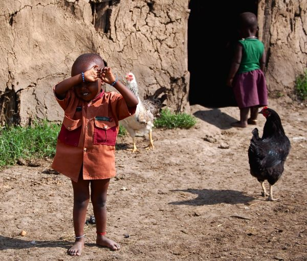 Children in Maasai village, Kenya