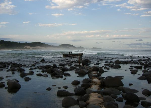 Coastline in the Transkei, South Africa