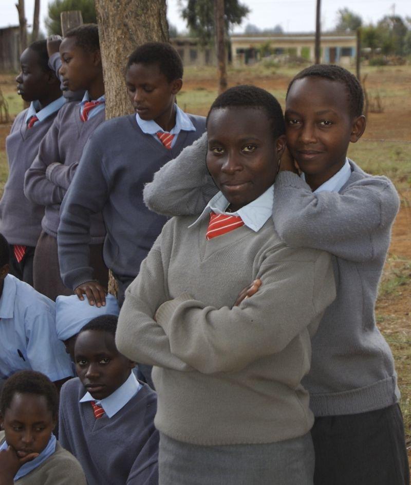 Schoolgirls in Laikipia District, Kenya