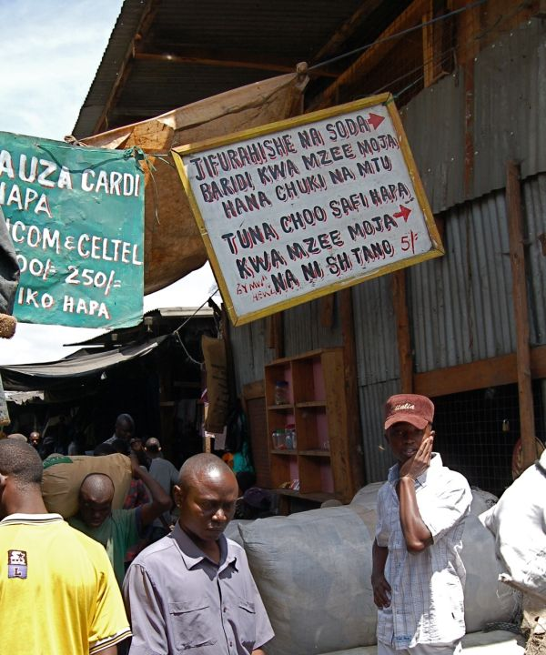 Second-hand clothing market in Nairobi