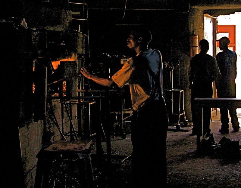 Glassblower at work, Kitengela Glass, Kenya