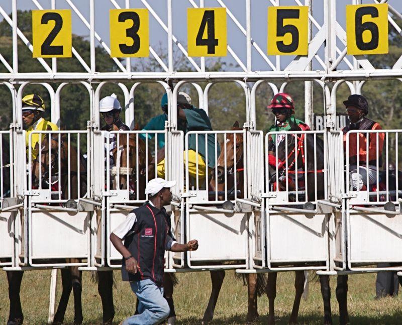 At the start, Ngong Race Track, Nairobi, Kenya