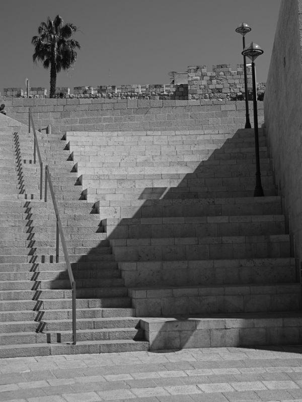 Modern shopping plaza in Jerusalem, Israel