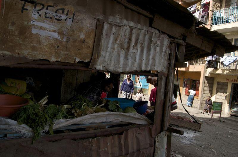 Vegetable stall, Mathare Valley, Nairobi, Kenya