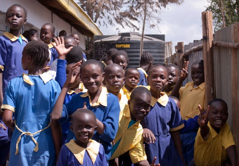 Students at Kisumu Ndogo Primary School