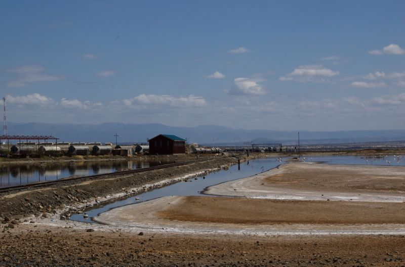 Lake Magadi from the Magadi Soda factory side