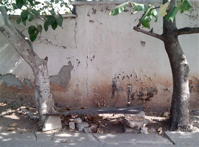 A shady bench, Abuja, Nigeria
