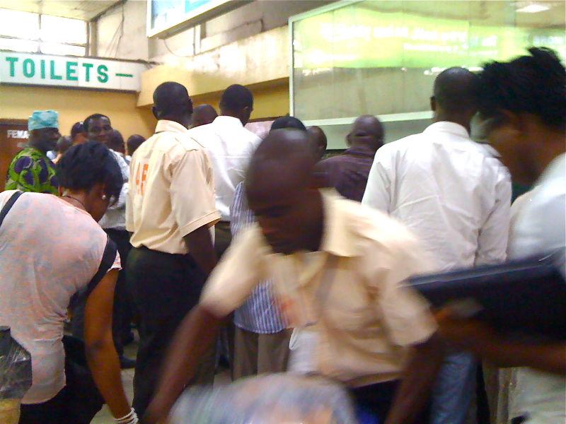 The luggage crush, Abuja airport