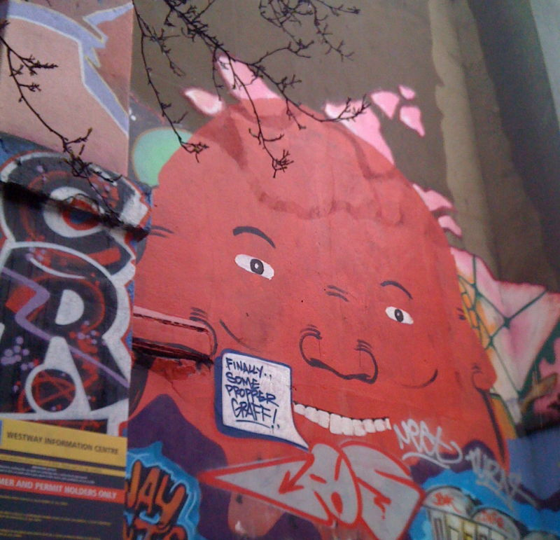 Graffitti near Portobello Market, London