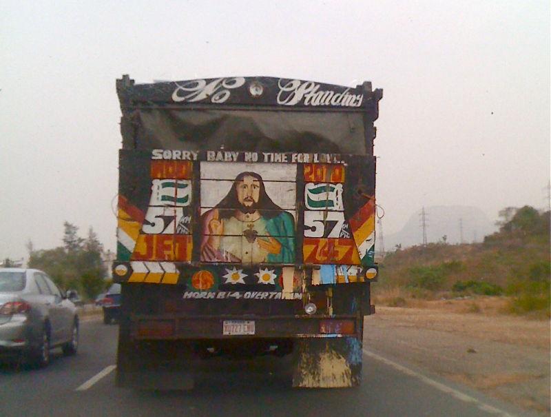 Painted truck, Abuja Nigeria