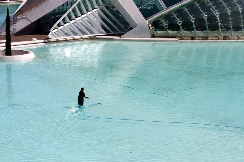 Pool sweeper with a huge task - Valencia