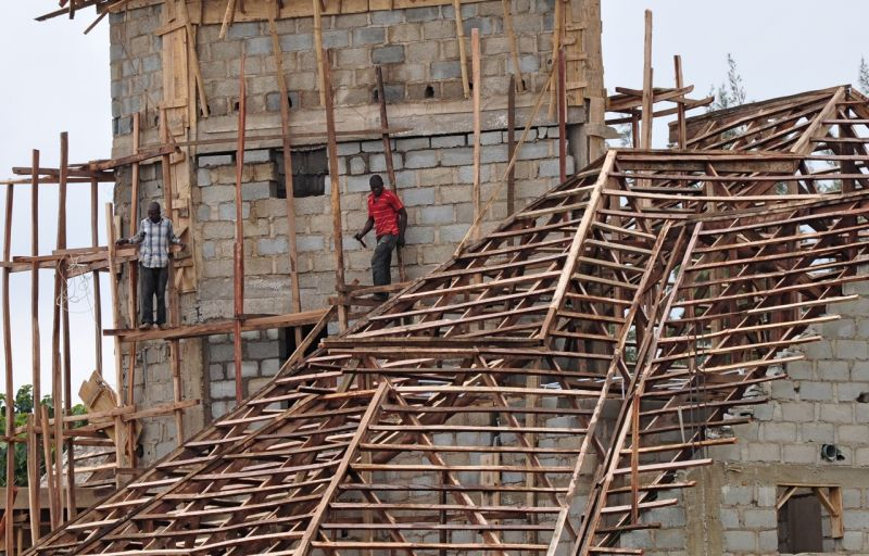 Builders at work, Abuja, Nigeria