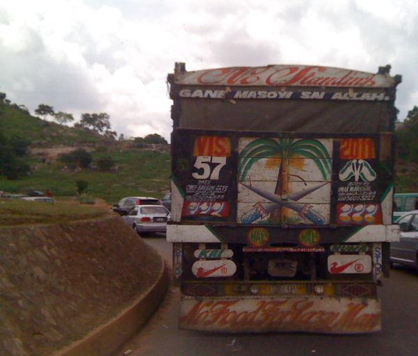 Decorated truck in Abuja