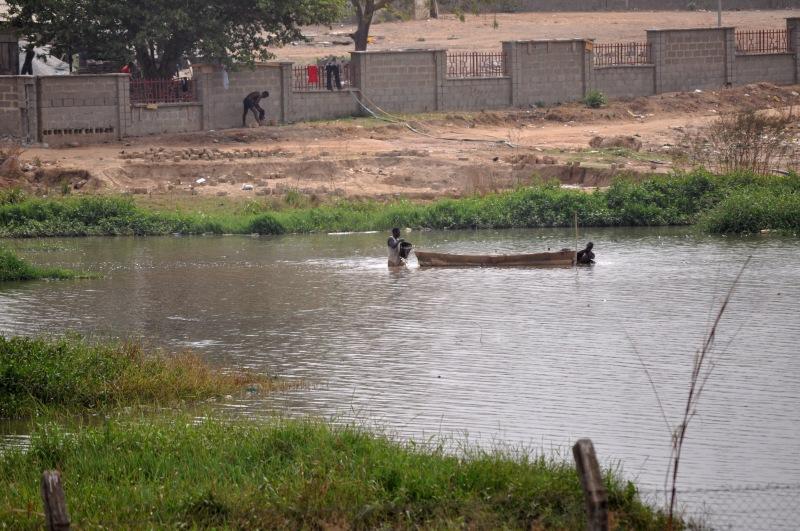 Fishermen in Jabi Lake, Abuja, Nigeria