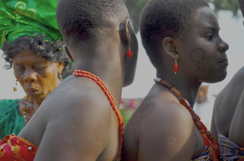 Dancers at a traditional wedding, Nigeria