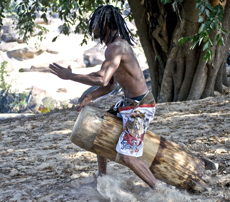 Drum Player, Congo Brazzaville