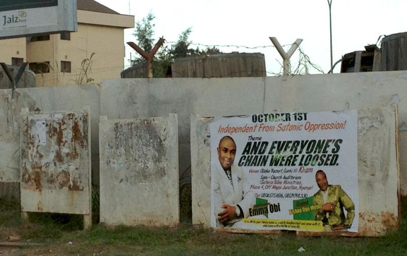 Religious Revival poster, Abuja