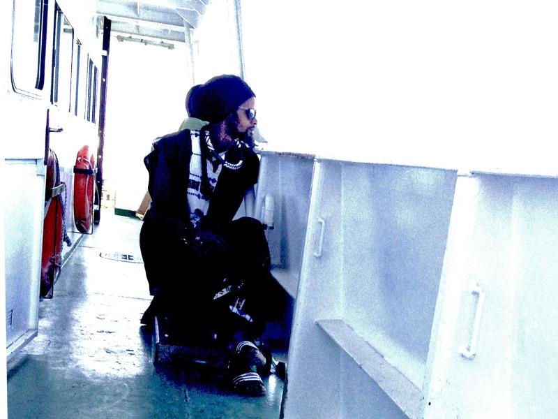 A passenger on the Goree Island ferry from Dakar