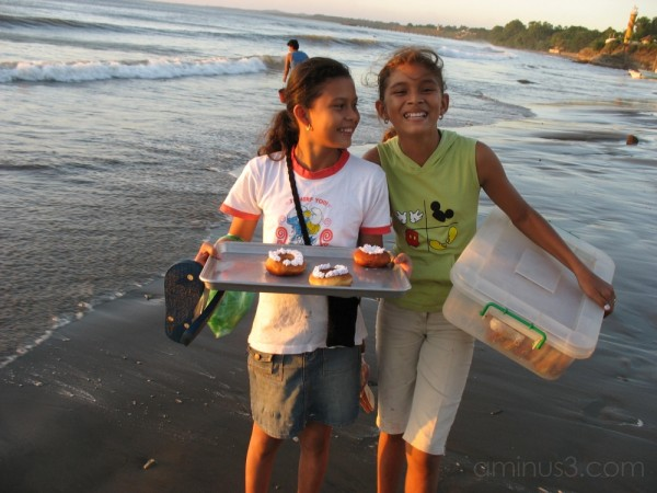 Working children, San Rafael del Sur, Nicaragua