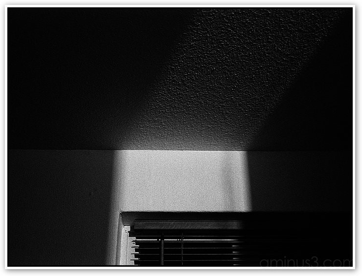 light from door, bw photo by richo from Europe