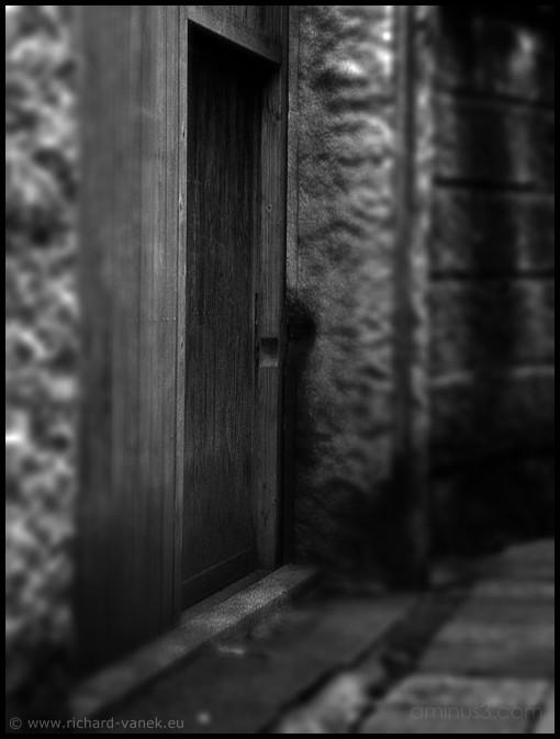 Hidden secret door, in small street