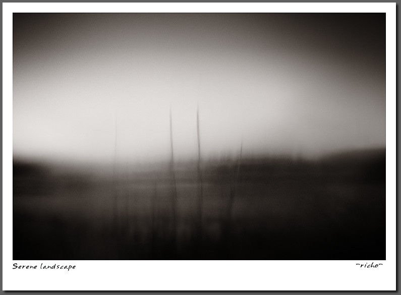 Serene lanscape fine art photograph bw moody