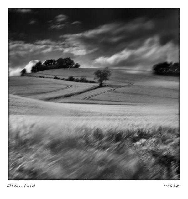 Dream Land from serene mind in black and white