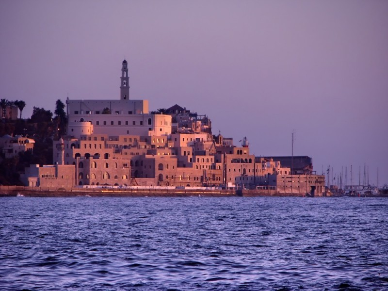 A view of Old Jaffa from the south of Tel-Aviv, Is