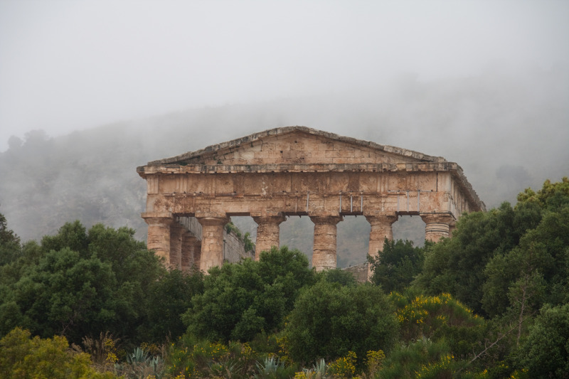 The Doric Temple in Segesta, Sicily