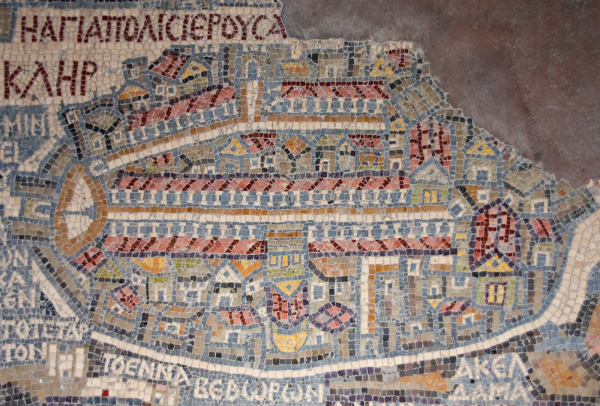 Jerusalem in Madaba Map - Madaba, Jordan