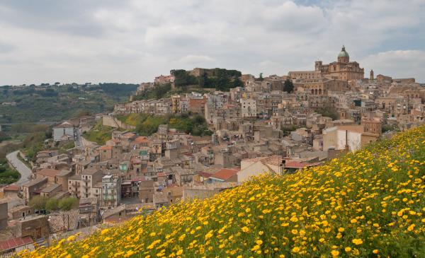 panoramic view of Piazza Armerina, Sicily