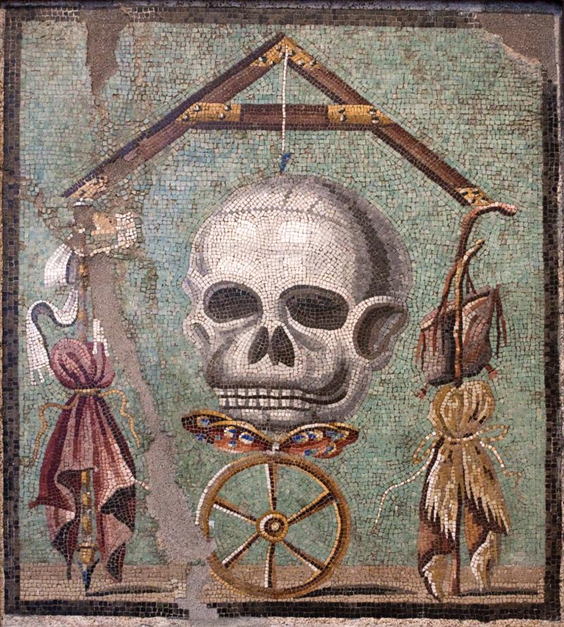 Skull Mosaic from Pompeii