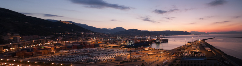 Sunrise over Salerno Port