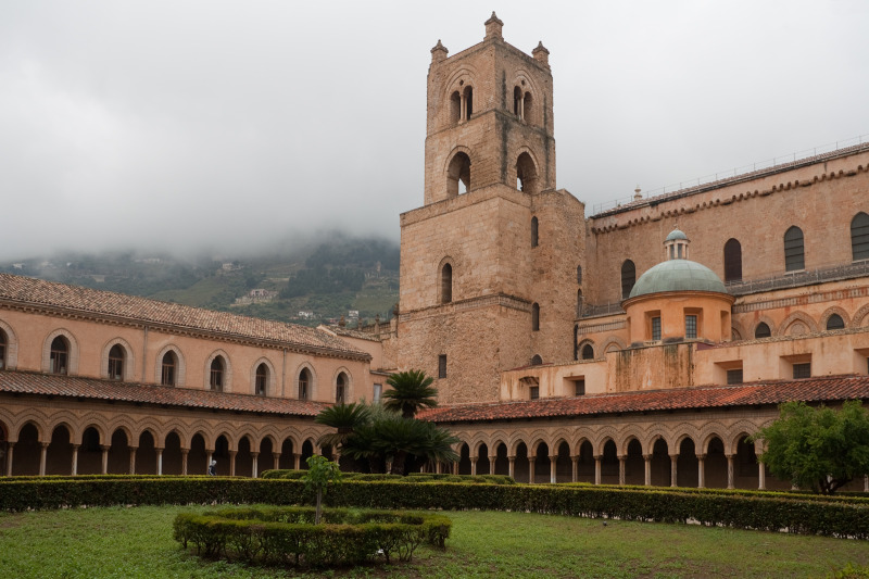 The cloister of the abbey of Monreale, Sicily