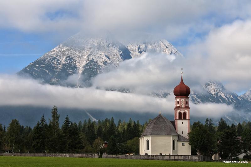Church in Leutasch, Innsbruck Land, Tyrol, Austria