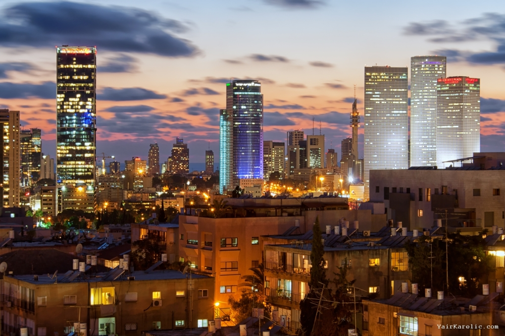 Skyline of Tel-Aviv, Israel