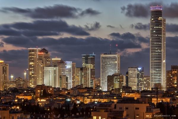 Skyline of Ramat Gan, Israel