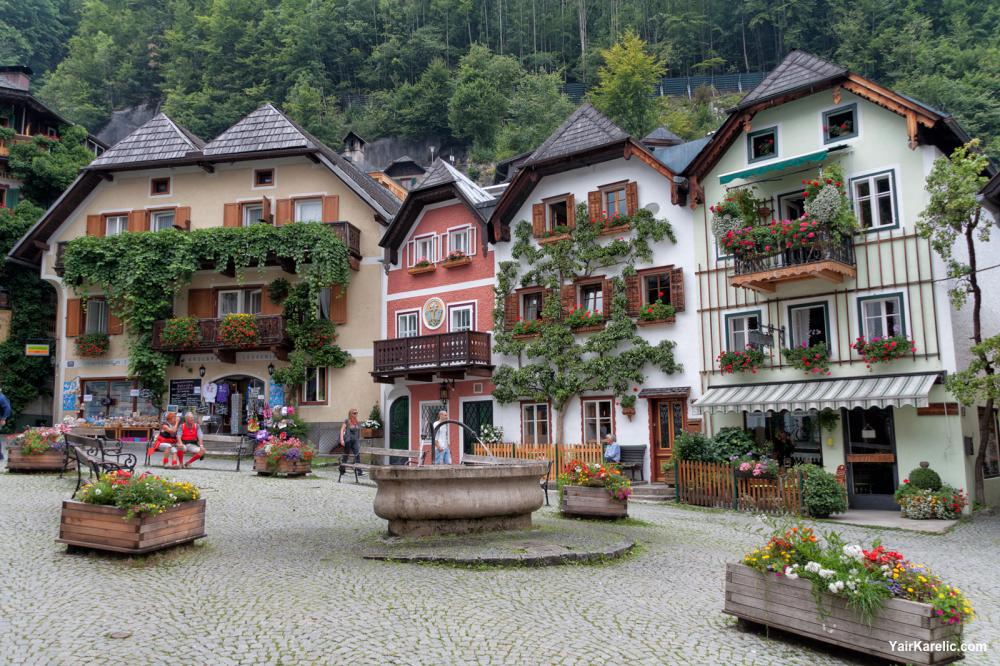 Center of Hallstatt, Austria