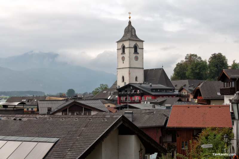 Parish Church of Saint Wolfgang and rooftops