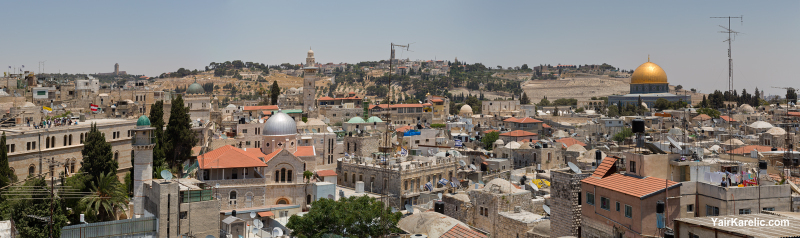 Rooftops of Jerusalem's Old City