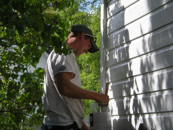Tyson Paints to Ready the Farm
