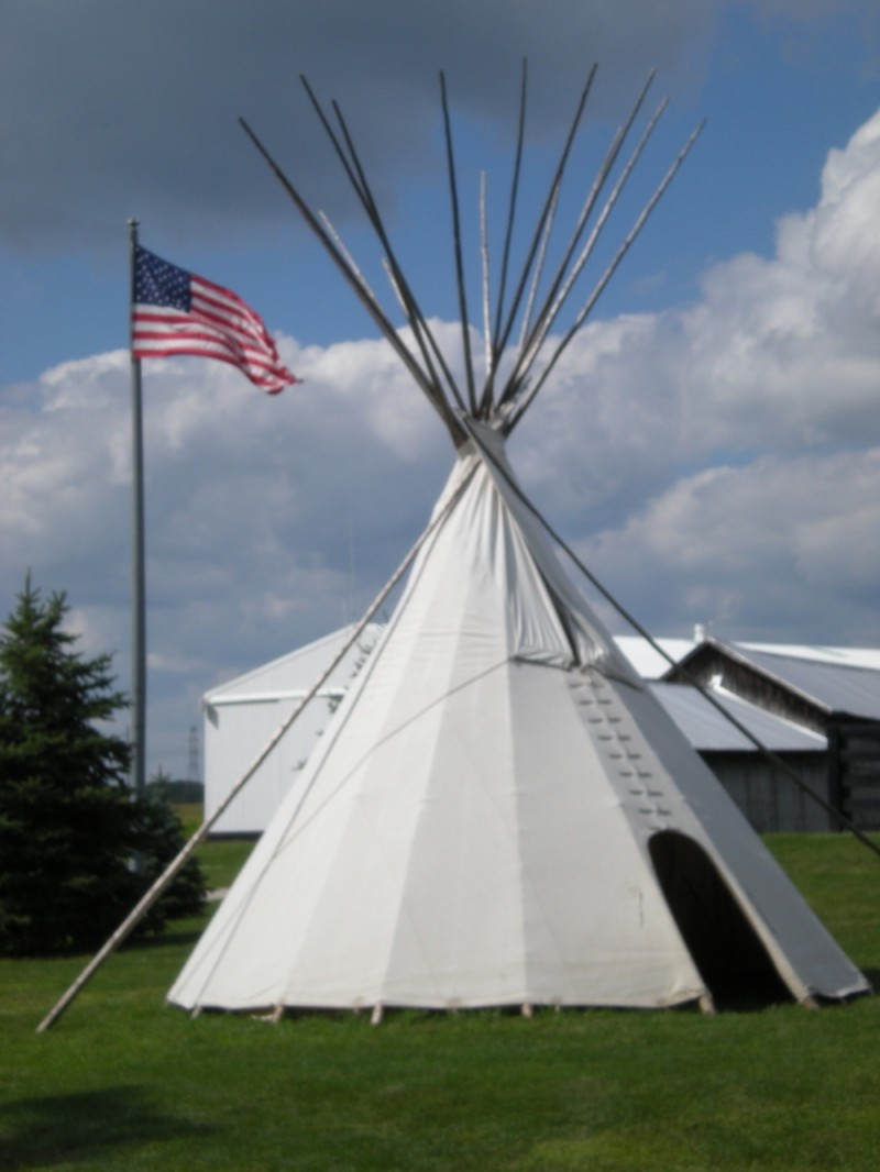 The Tipi is ready!