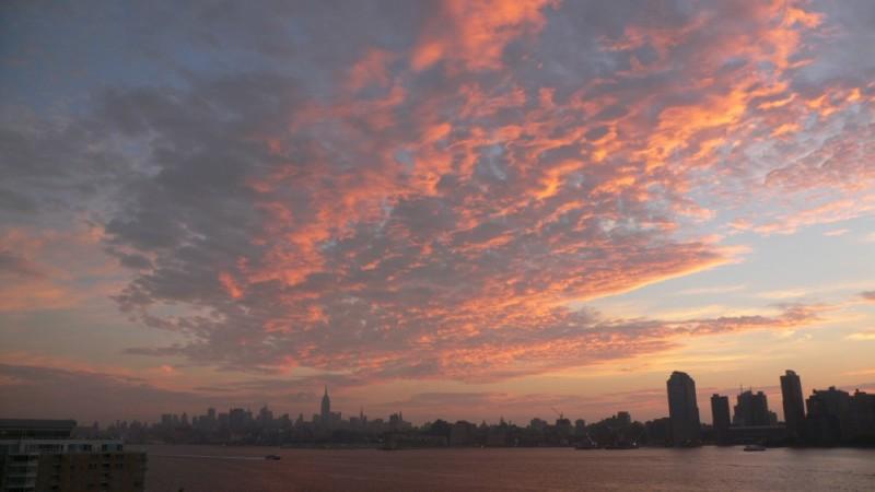 a beautiful sunrise over Manhatten