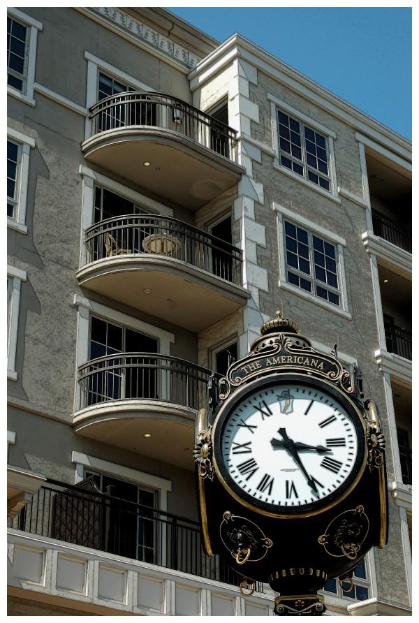 Big Clock at The Americana in Glendale California.