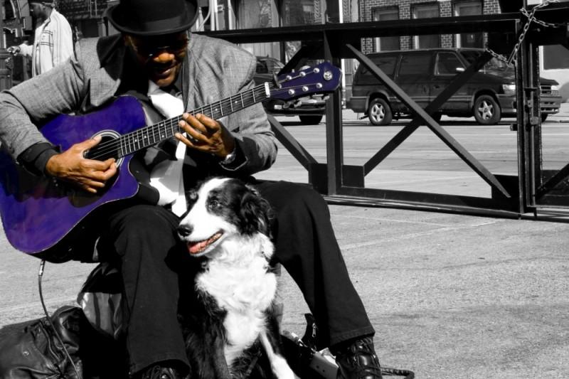 Blues street guitar